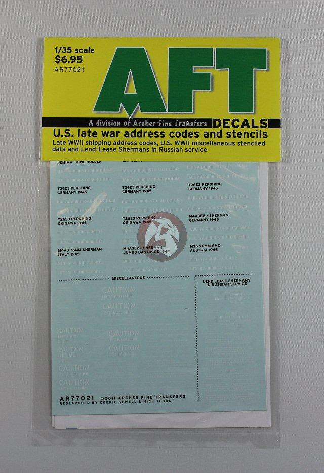Unit ID Symbols Non-Stencil Archer 1//35 US Bumper Codes AR35065B Black