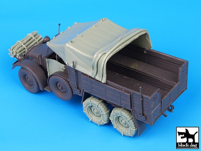 Black Dog 1//35 Krupp Protze German Truck WWII Accessories Set Tamiya T35075