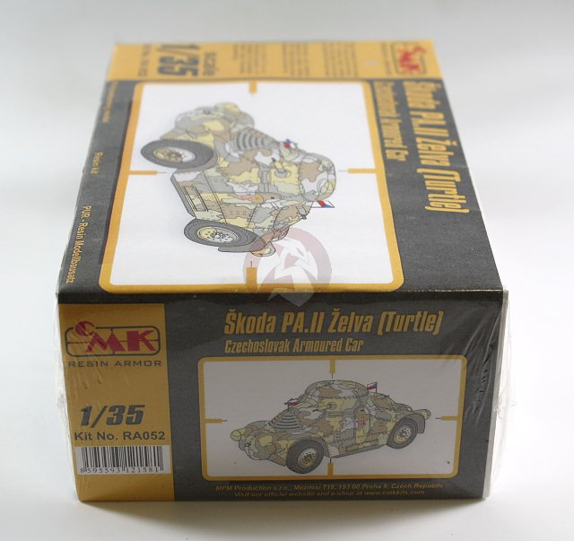 "Peddinghaus Industry Singapore: CMK 1/35 Skoda PA-II Zelva ""Turtle"" Czechoslovak Armored"