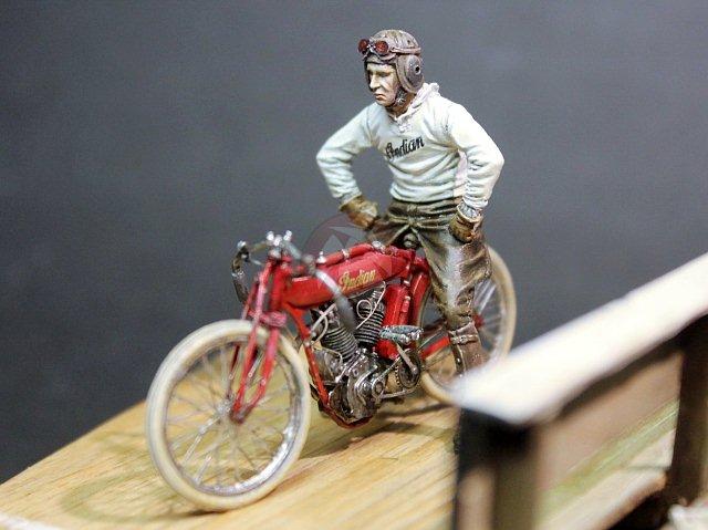 WWI US Indian Board Track Racer Motorcycle /& Pilot 1//35 Cix.Models Resin CixM021