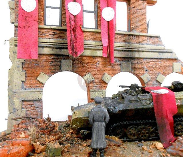 "Peddinghaus Industry Singapore: Dioramas Plus 1/35 ""Fall Of Berlin 1945"" Ruined 3-Story"