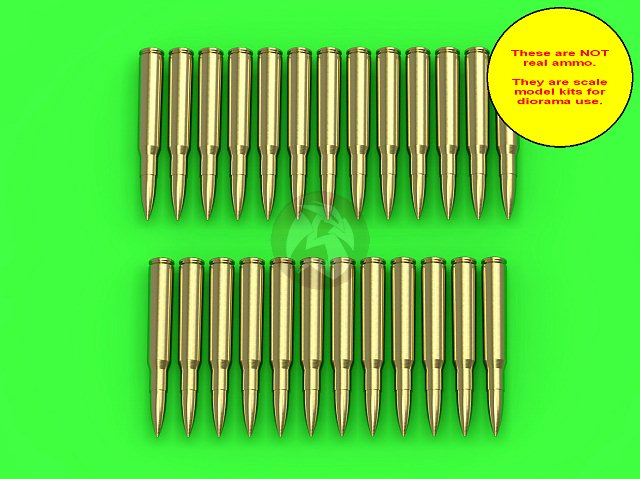 Details about Master 1/35 M1919 (AN/M2) Browning  30 Cal 7 62mm Cartridges  (25 pcs) GM-35-023