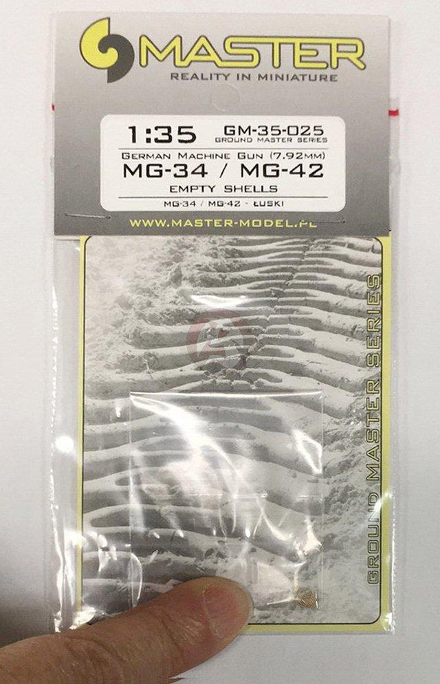 7.92mm 25pcs - empty shells NEW Master 35025 1:35 MG-34//MG-42