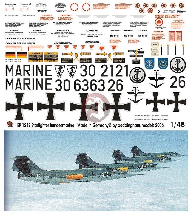 Peddinghaus Workshop Myanmar: Peddinghaus 1/48 F-104 Starfighter Bundesmarine Modern
