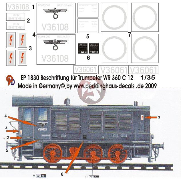 Peddinghaus Workshop Myanmar: Peddinghaus 1/35 German WR 360 C12 Diesel Locomotive