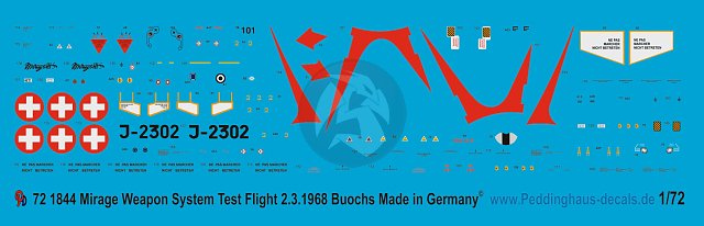 1//72 ep 1847 Mirage III S No 16 Squadron Buochs Sommer 1969