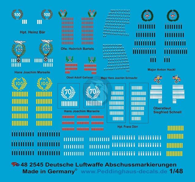 Peddinghaus 1//48 German Luftwaffe Fighter Gruppe and Stabsstaffel Markings 811