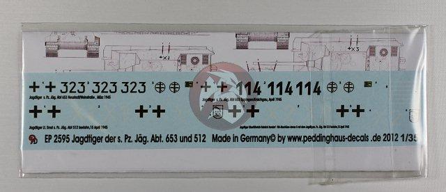 Peddinghaus 1//16 Jagdtiger Markings s.Pz.Jg.Abt.653 Neustadt March 1945 2445