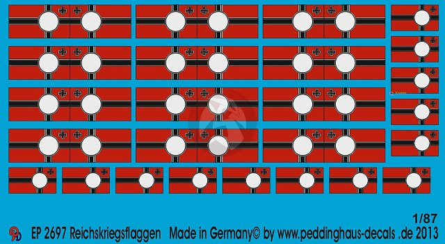 Peddinghaus 1/87 (HO) Reichskriegsflagge German Imperial War