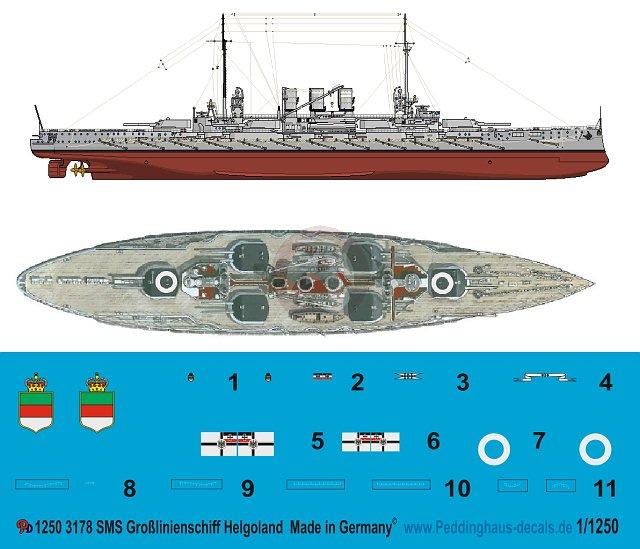 Peddinghaus-Decals 1//1250 2991 Marineflaggen der kaiserlichen Marine