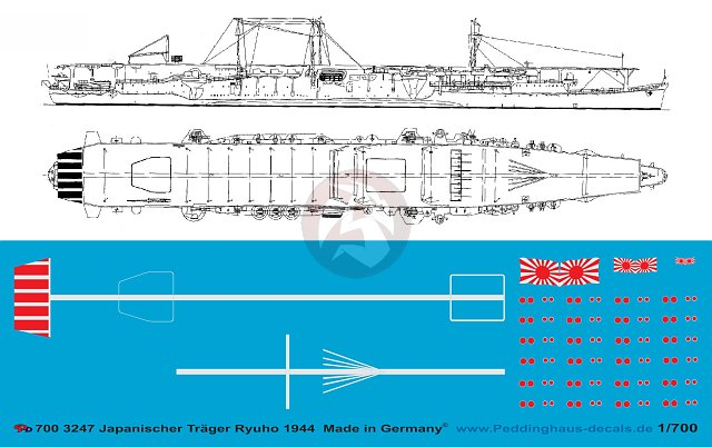 Details about Peddinghaus 1/700 HIJMS Ryuho Japanese Aircraft Carrier on