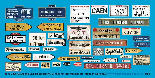 Peddinghaus 1/35 German and French Road Signs & Street Plates