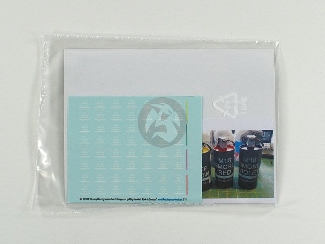 Peddinghaus 1//16 Markings for US M18 Colored Smoke Grenades Vietnam 3700 White