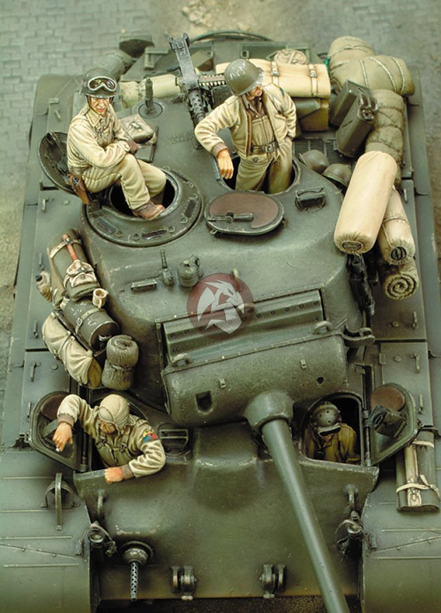 royal model 1 35 m26 pershing heavy tank crew wwii 4. Black Bedroom Furniture Sets. Home Design Ideas
