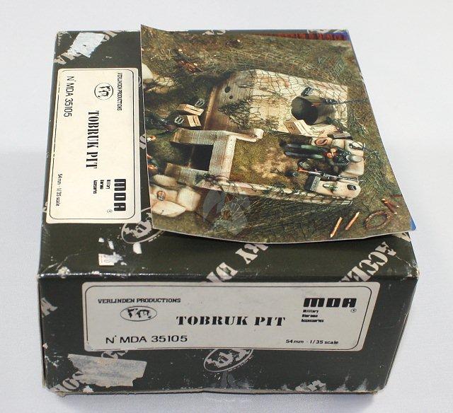Peddinghaus Industry Singapore: Verlinden 54mm (1/35) Tobruk Pit Bunker WWII [Plaster
