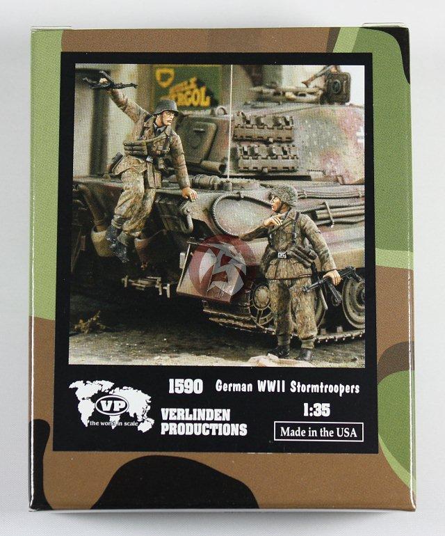 Verlinden 1:35 German WWII Stormtroopers 2 Resin Figures Kit #1590