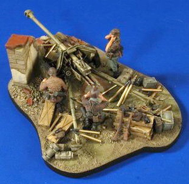 German 50 Mm Anti Tank Gun: Verlinden 1/35 7.5cm PaK 40 Gun Diorama Base Ammo, Gear