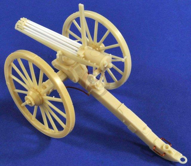 Peddinghaus Industry Singapore: Verlinden 54mm (1/32) Model 1874 Gatling Gun Mounted On